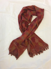 Leaves and squares, jaquard french scarf