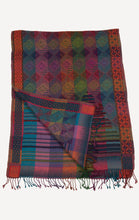 Indian wool jaquard colorful scarf