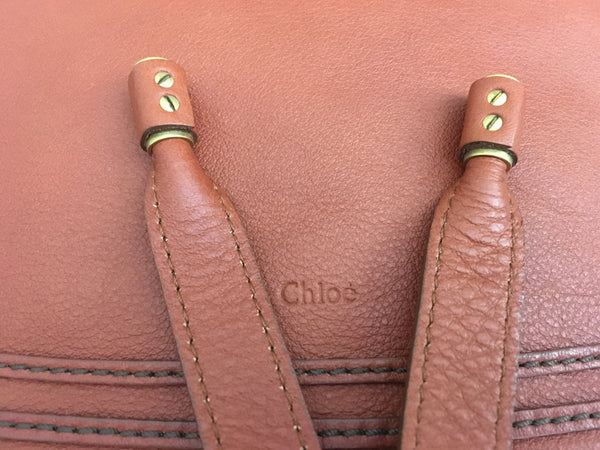 Chloe Large Marcie Tote in Whisky Calfskin