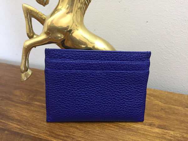Mulberry Neon Blue Card Holder - AS NEW