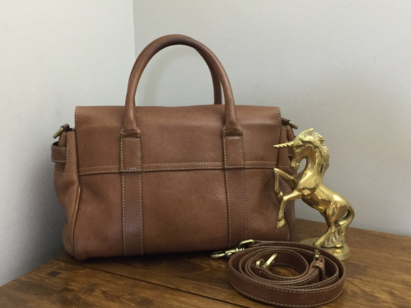 Mulberry Oak NVT Leather Small Bayswater Satchel