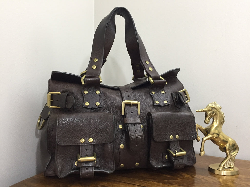 4f4910c18c07 Mulberry Roxanne in Chocolate NVT Leather – Unicorn Designer Bags