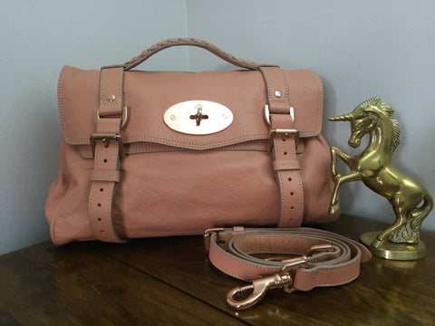 4d7eb6e4f6 Sale Sold Out Mulberry Regular Alexa in Plaster Pink Soft Buffalo Leather  with Rose Gold Hardware