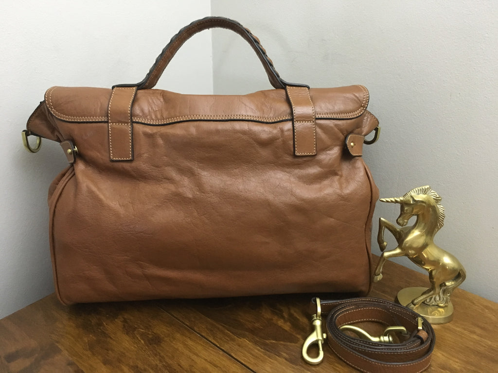 Mulberry Oversized Alexa In Oak Soft Buffalo Leather With Gold Hardware Damentaschen
