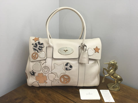 853dac6de8 Sale Sold Out Mulberry Patchwork Bayswater in Marshmallow Soft Matte Leather  with Gold Hardware