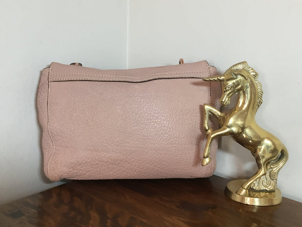 Mulberry Regular Lily in Powder Beige Maxi Grain Leather with Rose Gold Hardware