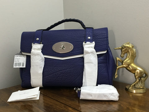 Sale Sold Out Brand New Mulberry Regular Alexa in Indigo Shrunken Calf  Leather abce4742426b8