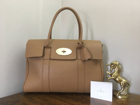 fc76940d349 Sold Out Mulberry Heritage Bayswater in Deer Brown Grainy Print Leather  with Gold Hardware