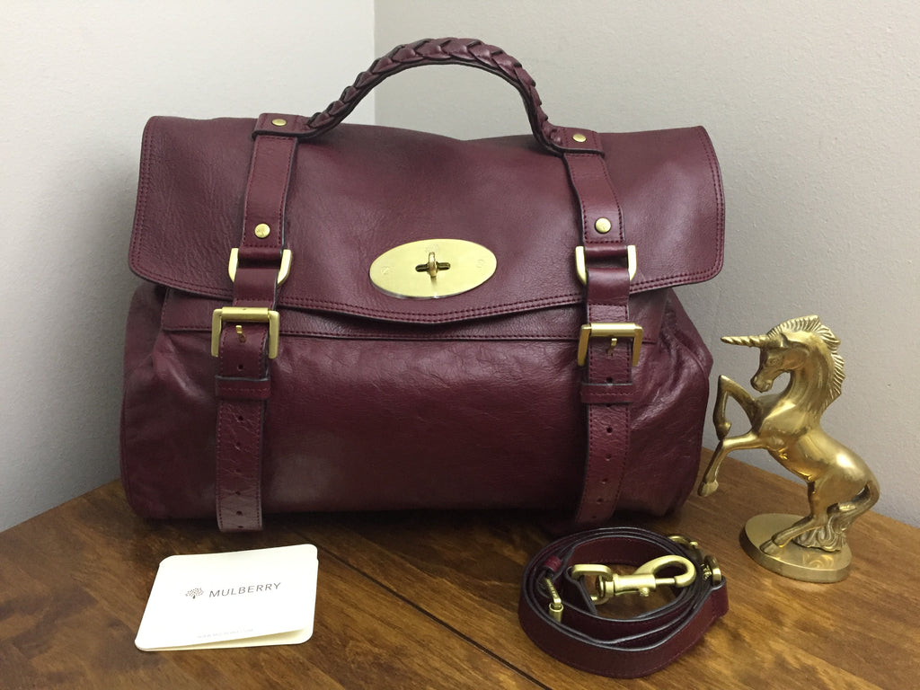 1ca8179c85 Mulberry Oversized Alexa in Conker Soft Buffalo Leather with Brushed Gold  Hardware