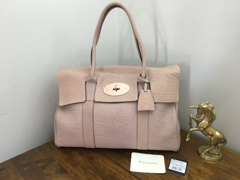 ab79fbb6cac Sale Sold Out Mulberry Heritage Bayswater in Powder Beige Maxi Grain  Leather with Rose Gold Hardware