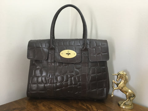 4448277826c Sale Sold Out Mulberry Vintage Heritage Bayswater in Chocolate Congo Leather  with Brass Hardware