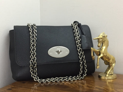 c378d3449034 ... best price sold out mulberry medium lily in black soft grain leather  with silver hardware 1aab1