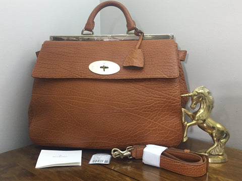 Sold Out Brand New Mulberry Large Suffolk in Ginger Shrunken Calf Leather 941829d42a31d