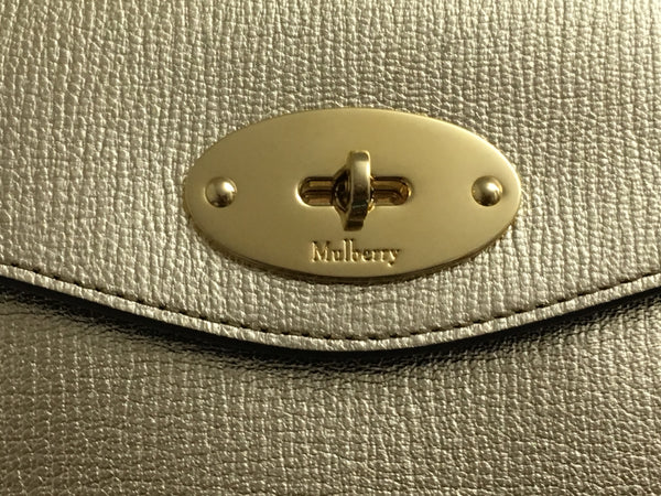 Mulberry Metallic Print Darley Cosmetic Pouch/Clutch - As New