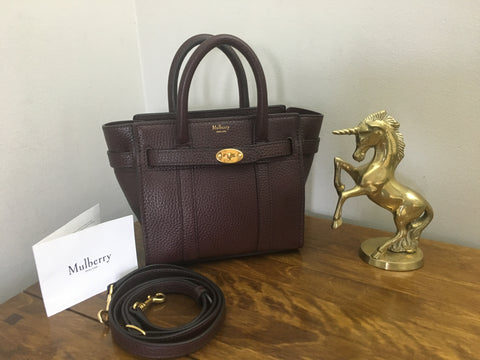 Mulberry Oxblood Micro Zipped Bayswater - New - RRP £750