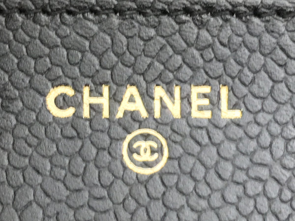 Chanel Black Caviar Classic WOC Gold Hardware