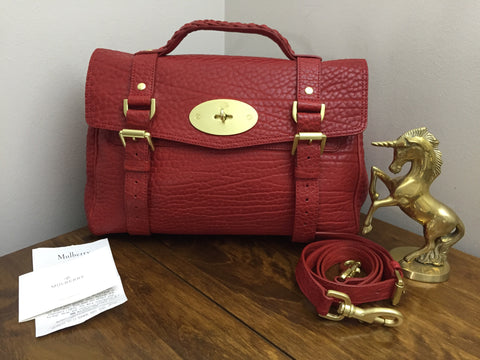 414fd12971 Sale Sold Out Brand New Mulberry Regular Alexa in Poppy Red Shrunken Calf  Leather