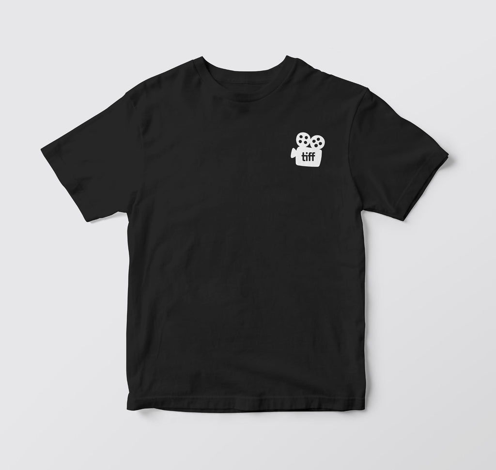 TIFF embroidered black t-shirt
