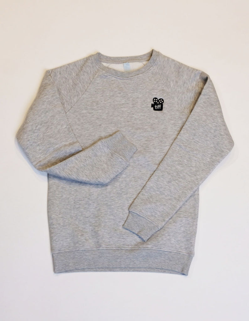 Embroidered Crewneck - Heather Grey