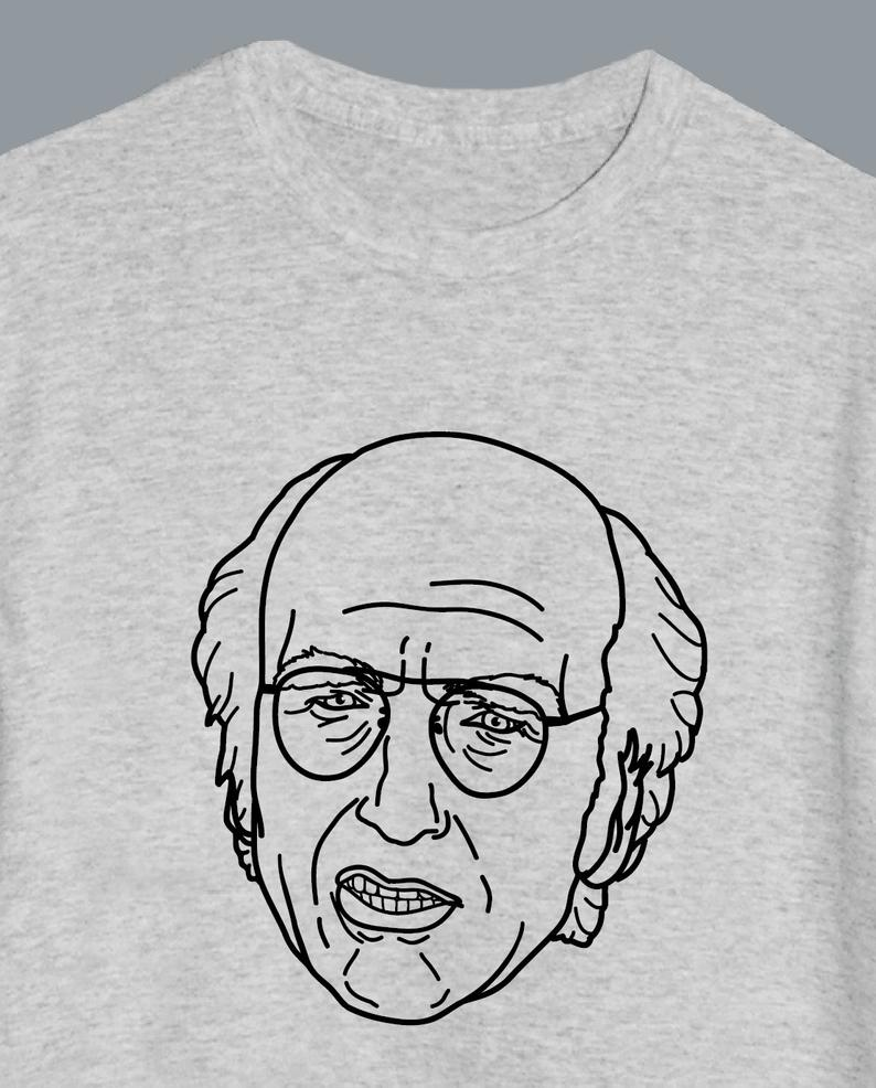 Larry David Illustrated T-Shirt
