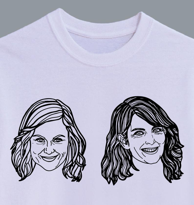 Tina & Amy Illustrated T-Shirt