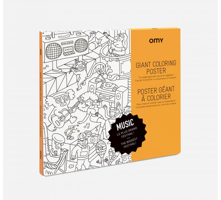 OMY Colouring Poster (multiple styles)