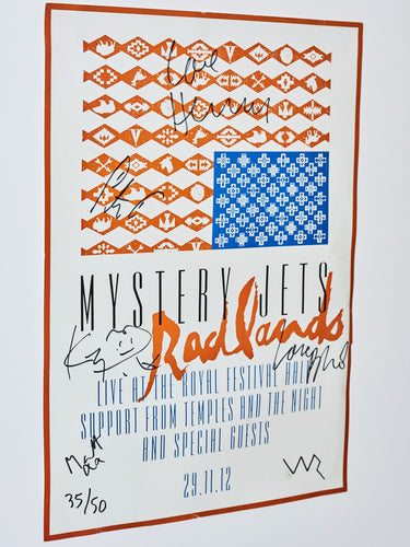 LIVE AT THE RFH signed poster