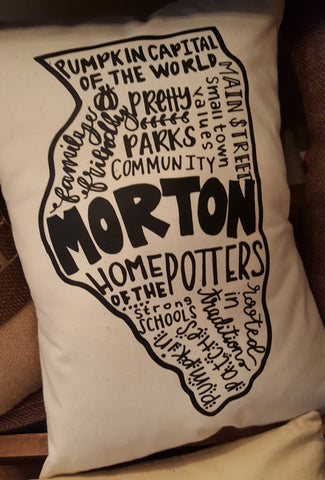 Morton Word Art Pillow