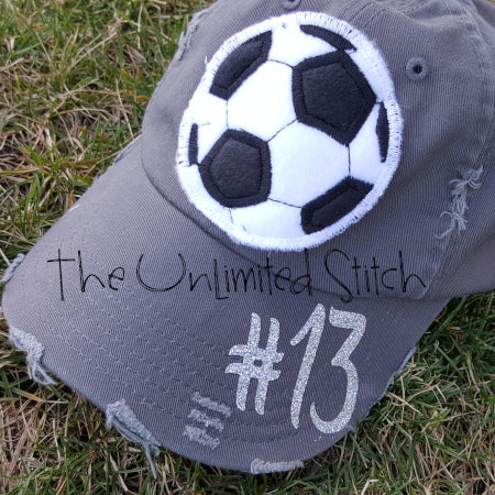 Big Soccer Ball Distressed Hat