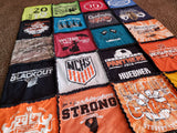 Raggy Style T-Shirt Quilt