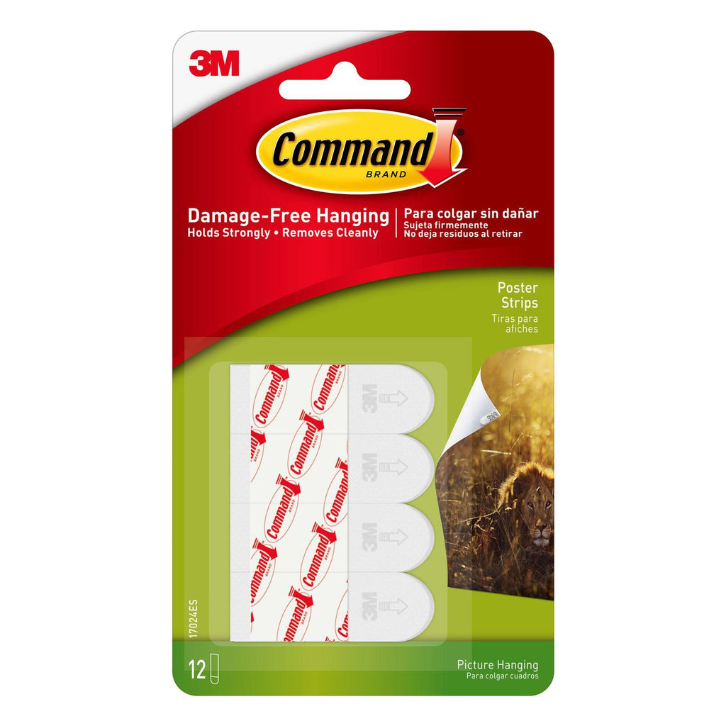 Command™ Poster Strips - Set of 12