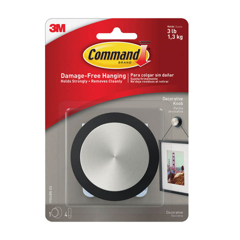 Command™ Decorative Knob, Round