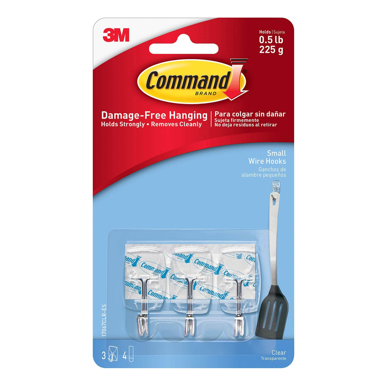 Command™ Clear Small Wire Hook