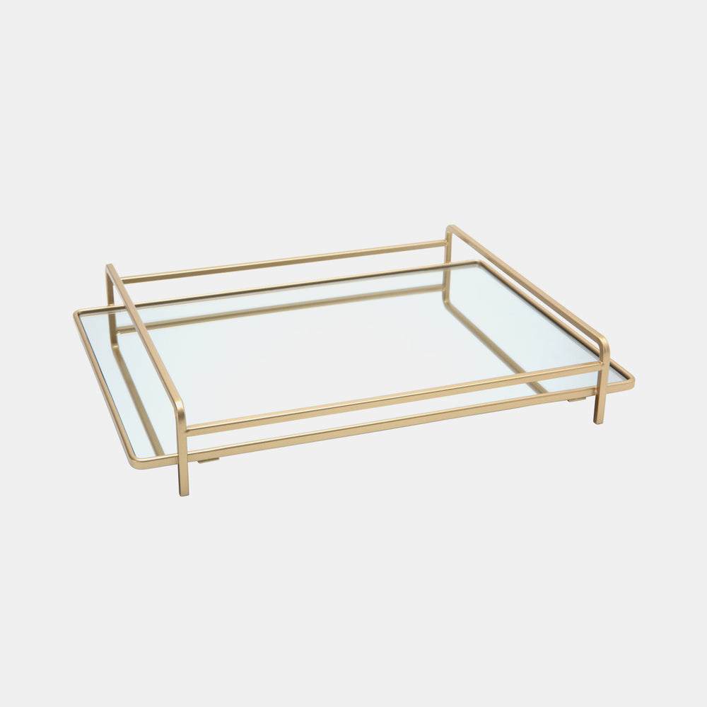 Gold Mirrored Tray Dormify
