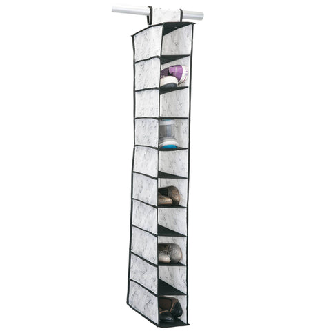 Marble 10 Shelf Shoe Organizer