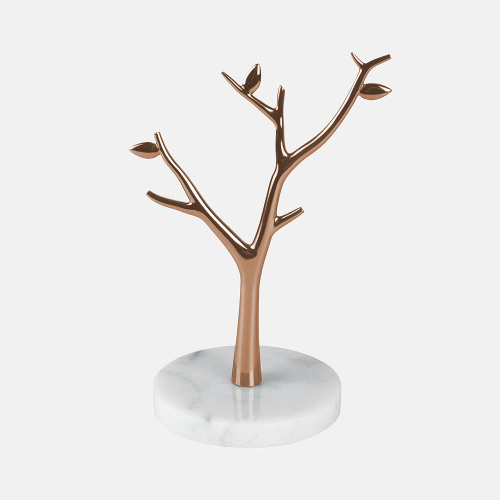 86a049334 Rose Gold Tree Jewelry Holder with Marble Base – Dormify