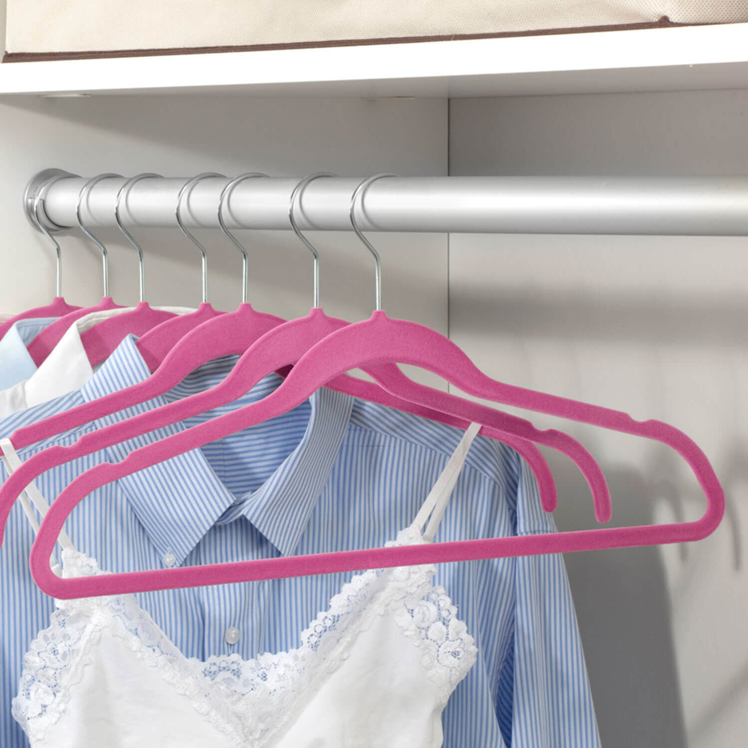 Non Slip - Slim Fit Basic Hangers Set of 6