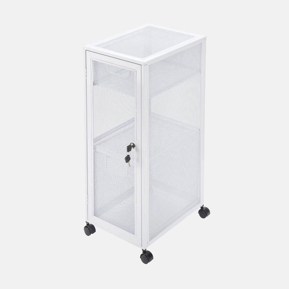 Locker Nightstand On Wheels
