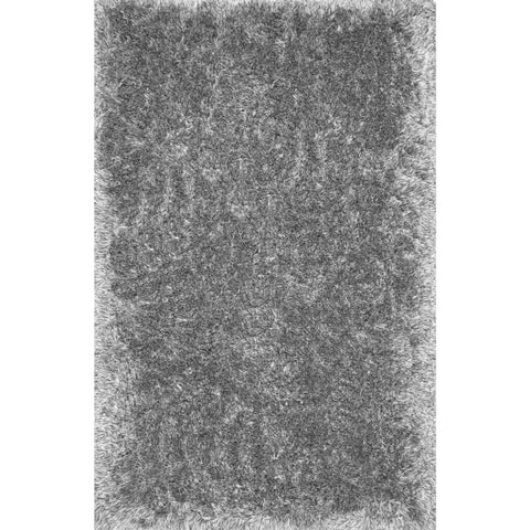 Solid Grey Super Plush Shag Area Rug