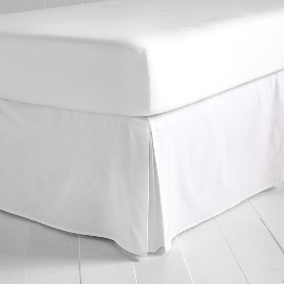 Simple White Bed Skirt Dormify
