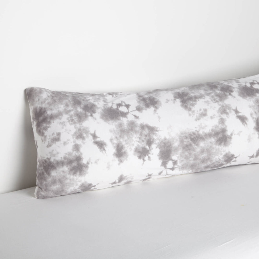 Grey Tie Dye Body Pillow Cover College Body Pillow Cover Dormify