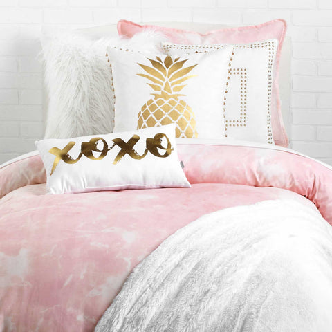 Pineapple Foil Print Pillow