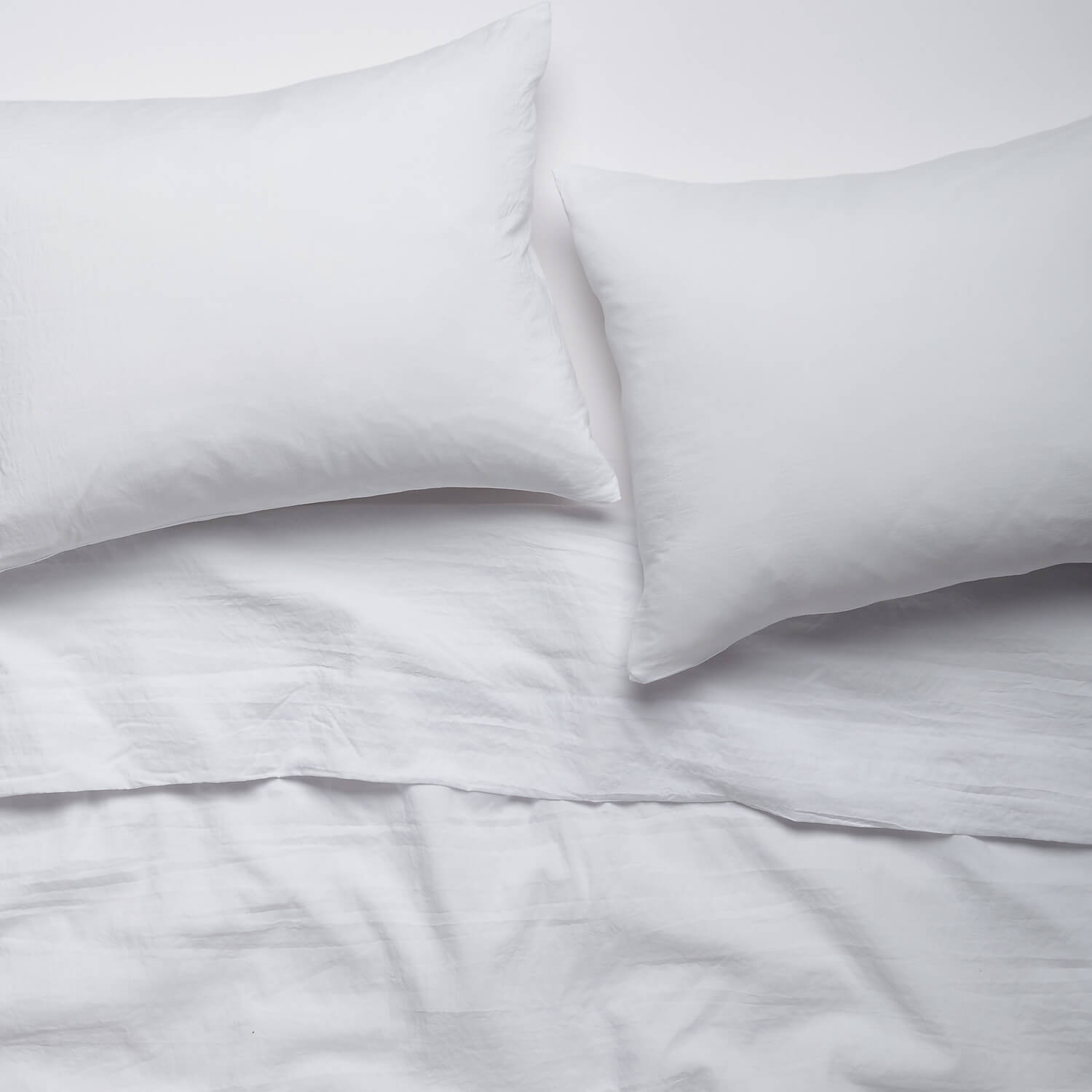 white cozy solid sheet set - queen | bedding