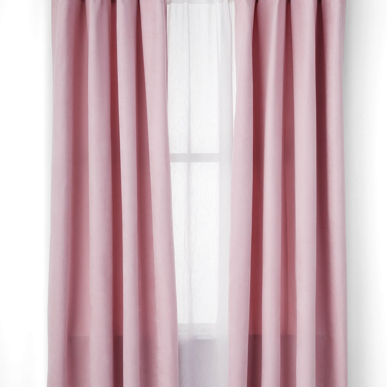 Microsuede Single Curtain - Light Pink