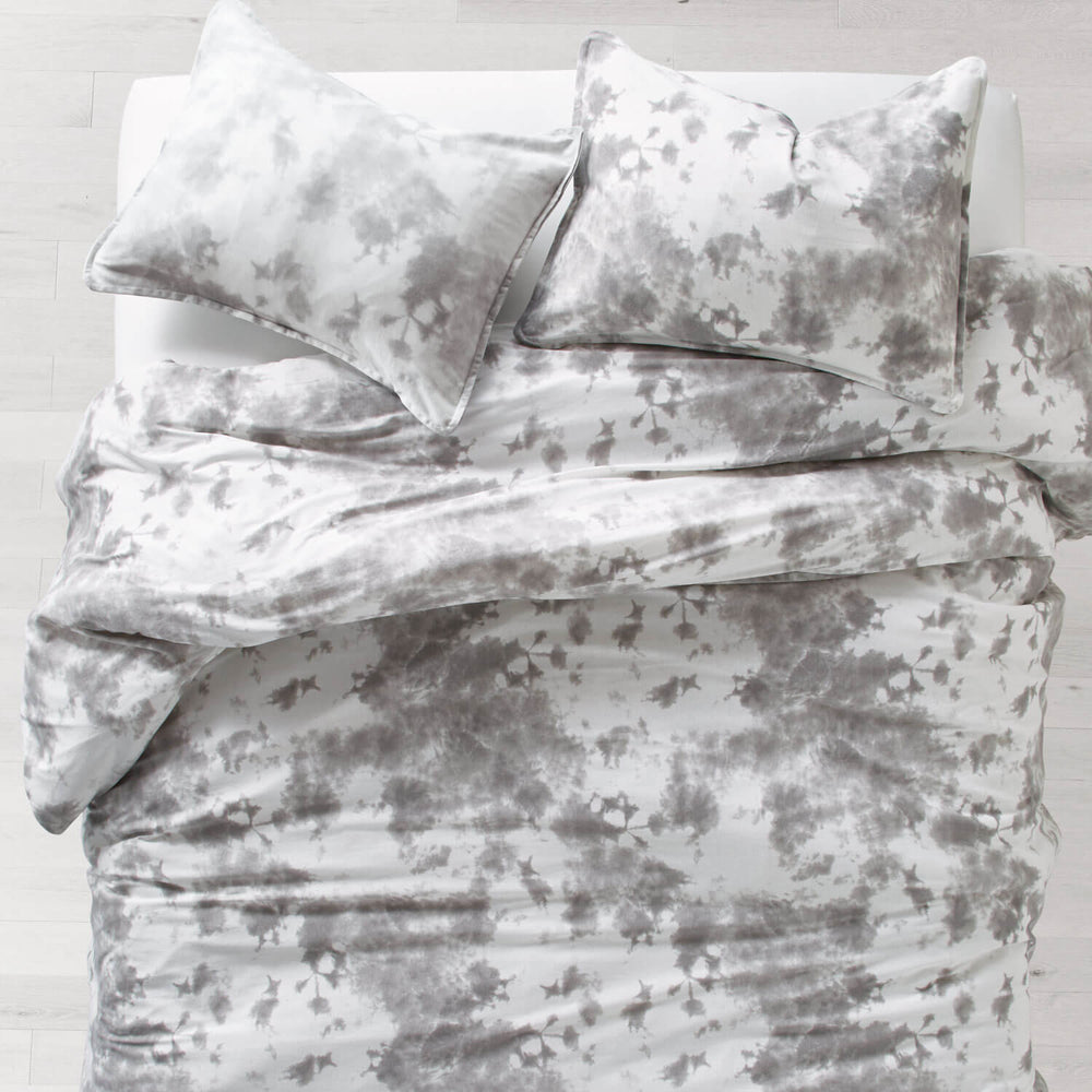Grey Tie Dye Jersey Comforter Set   Full/Queen Dorm Bedding | Dormify