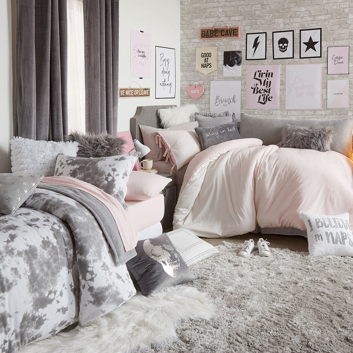 products gray velvet styled bed bedding quilt vienna mcgee co