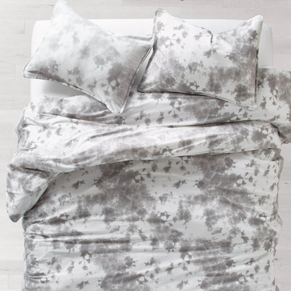 Grey Tie Dye Jersey Comforter Set Full Queen Dorm