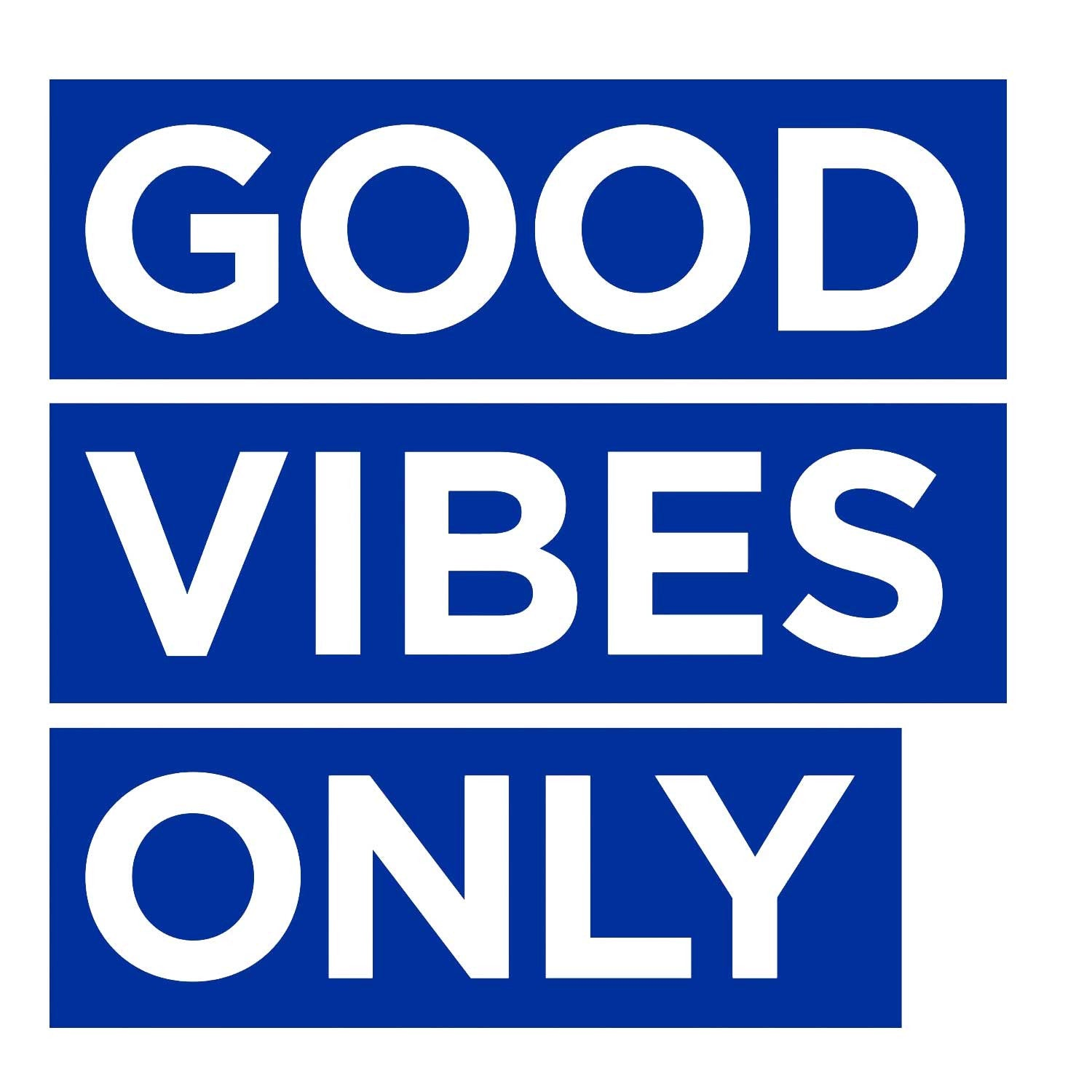 Good Vibes Only Decal - Blue Small