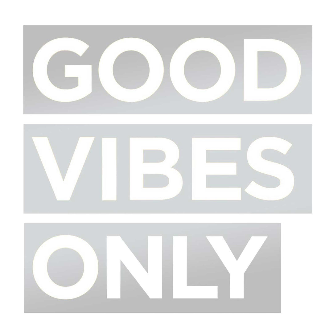 good vibes only decal dormify
