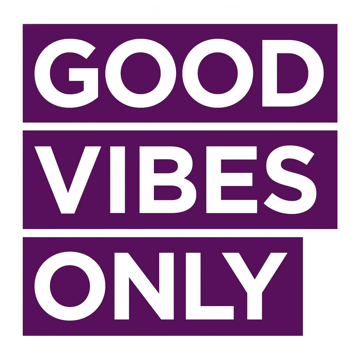Good Vibes Only Decal - Violet Small